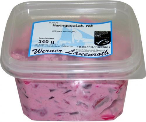 Heringssalat, rot mit frischer rote Beete 340g