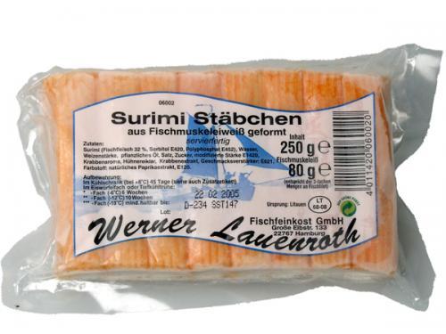 MSC Surimi Stäbchen reich an Omega 3 Fettsäuren