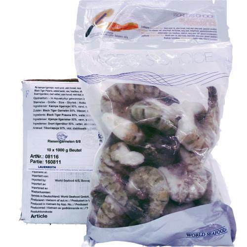 Riesengarnelen 6/8 Easy Peel mit Schale