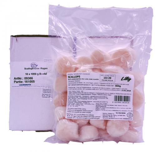 Scallops ohne Rogen - feinstes Jacobsmuschelfleisch