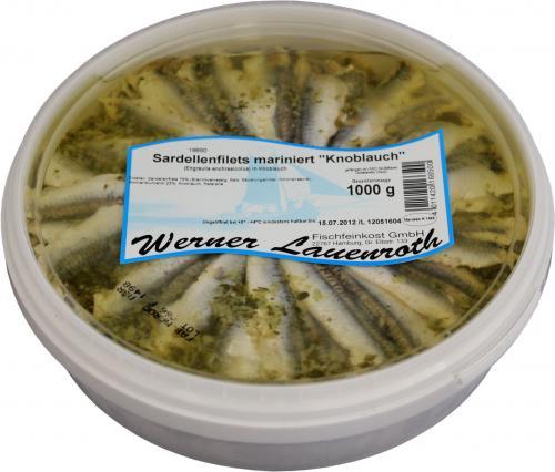 Sardellenfilets mariniert Knoblauch