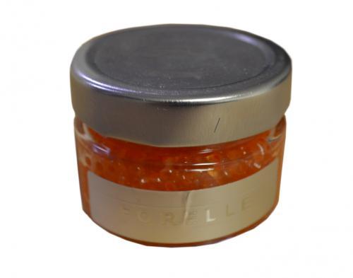 Forellen Caviar 50g körnig orangefarbener französischer Forellenlachs