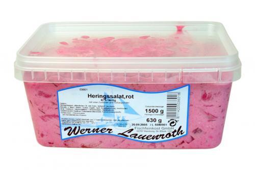 fischfeinkost shop heringssalat rot mit frischer rote beete 340g online kaufen. Black Bedroom Furniture Sets. Home Design Ideas