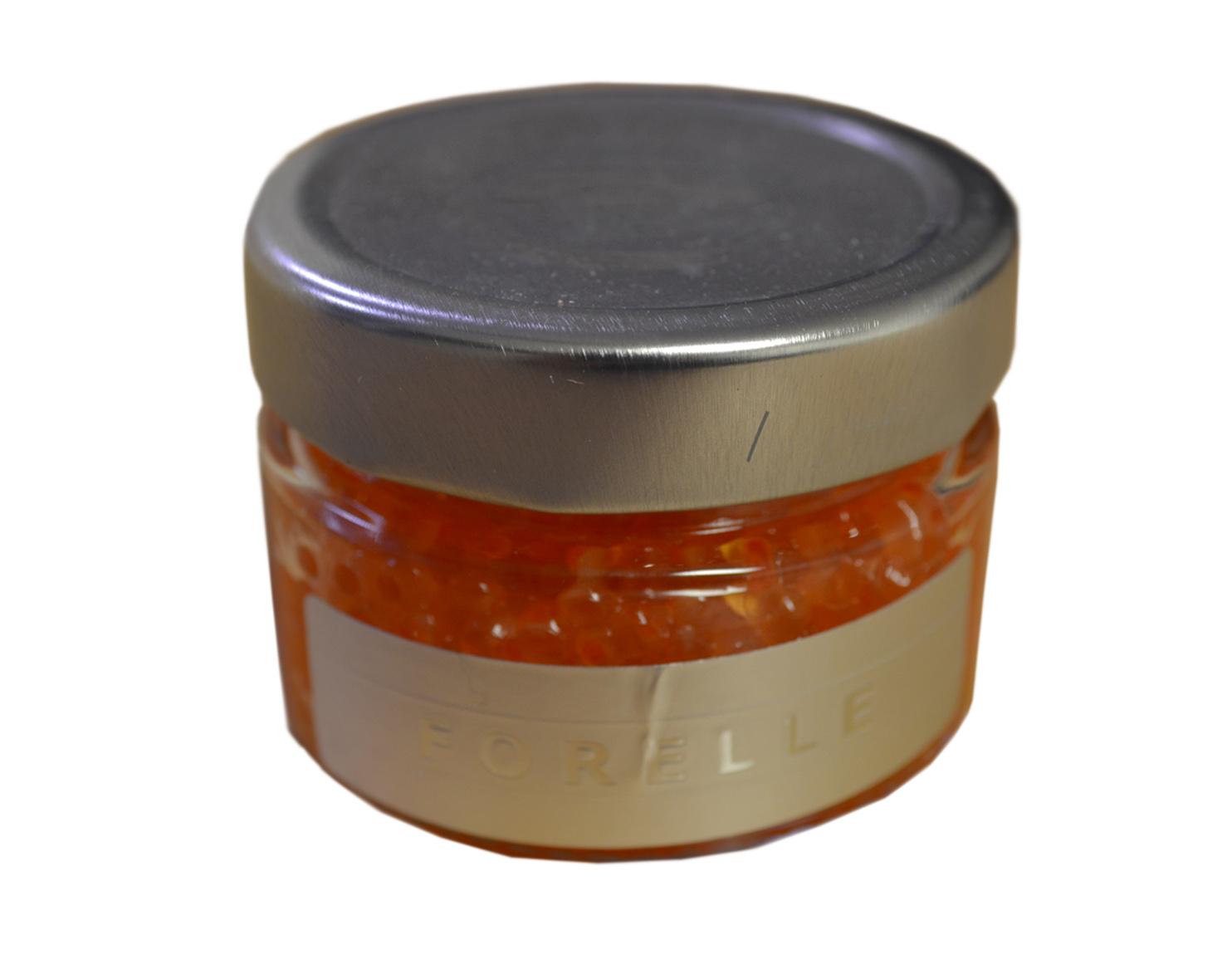 fischfeinkost shop forellen caviar 100g k rnig orangefarbener franz sischer forellenlachs. Black Bedroom Furniture Sets. Home Design Ideas